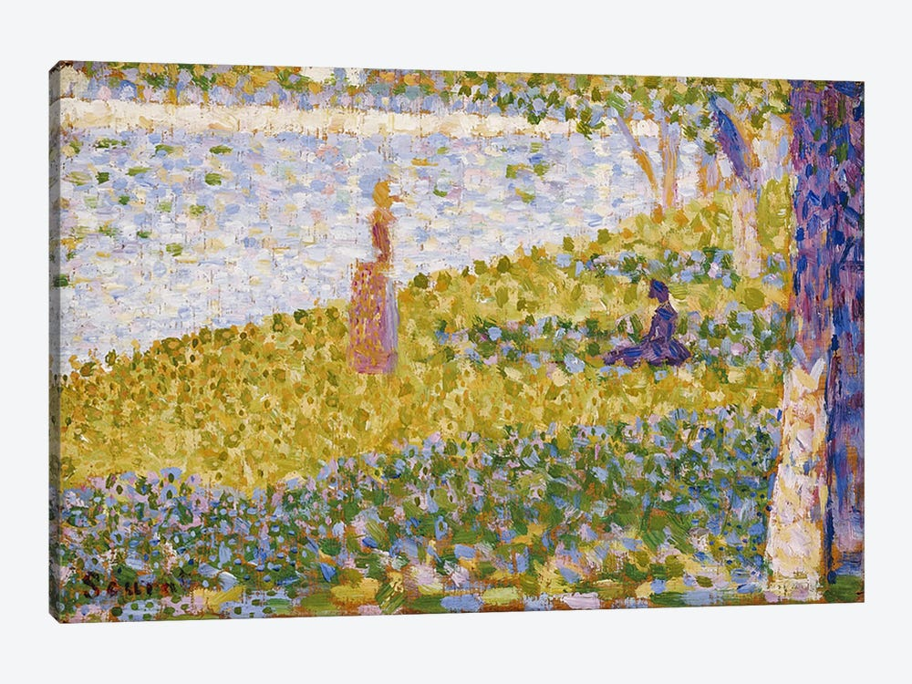 Women on the River Bank, c.1884-85 by Georges Seurat 1-piece Canvas Artwork