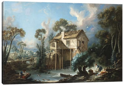 The Mill at Charenton, c.1756 Canvas Art Print