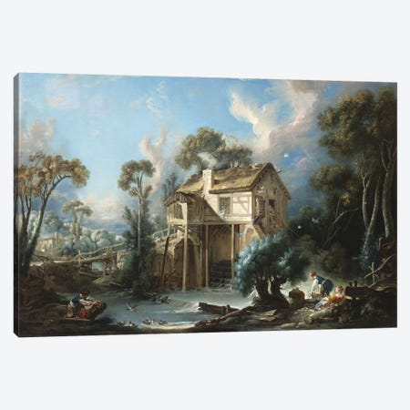 The Mill at Charenton, c.1756  Canvas Print #BMN5125} by Francois Boucher Canvas Art Print