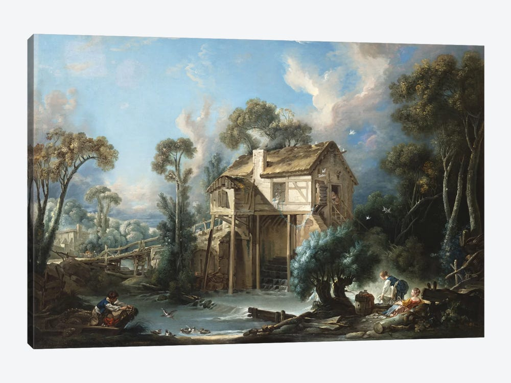 The Mill at Charenton, c.1756  by Francois Boucher 1-piece Art Print