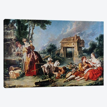 Fountain of Love, 1748  Canvas Print #BMN5126} by Francois Boucher Canvas Art Print