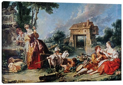 Fountain of Love, 1748  Canvas Art Print
