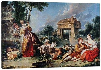 Fountain of Love, 1748  Canvas Art Print