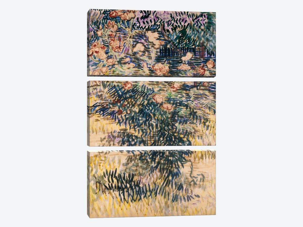 Oleanders, the Hospital Garden at Saint-Remy, 1889  by Vincent van Gogh 3-piece Canvas Art Print