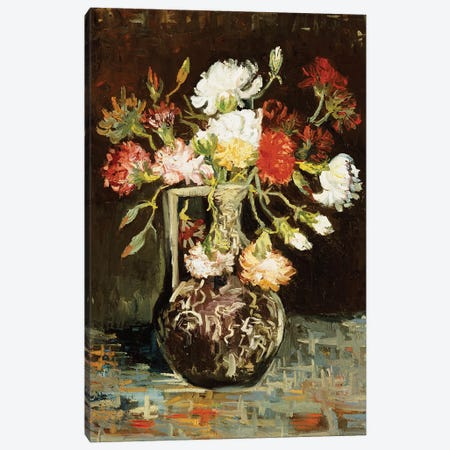 Bouquet of Flowers  3-Piece Canvas #BMN5130} by Vincent van Gogh Canvas Art Print