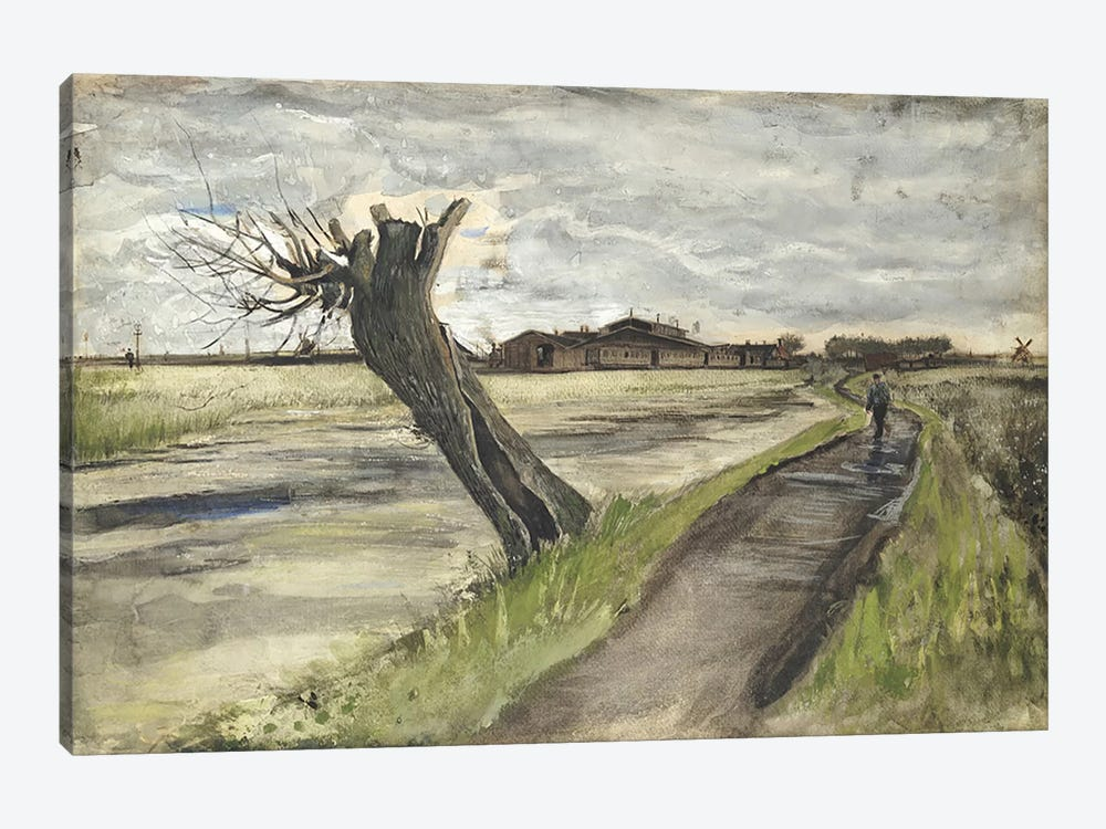 Pollard Willow, 1882  by Vincent van Gogh 1-piece Canvas Wall Art