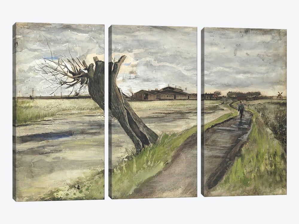 Pollard Willow, 1882  by Vincent van Gogh 3-piece Canvas Artwork