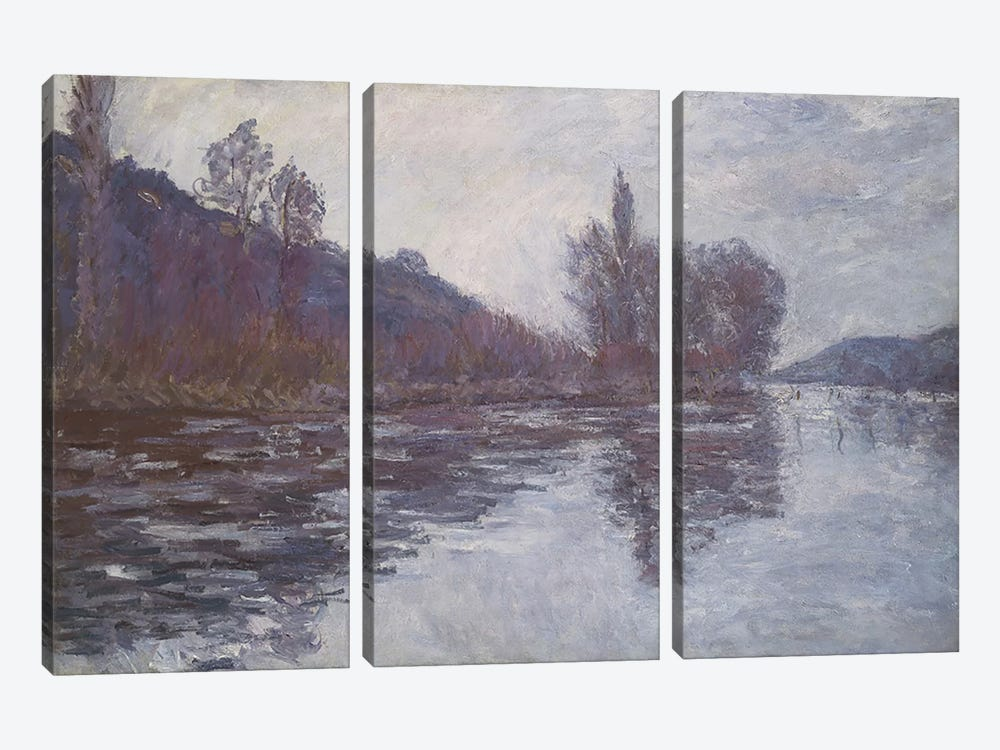 The Seine near Giverny, 1894  by Claude Monet 3-piece Canvas Art