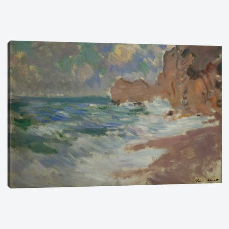 Receding Waves  Canvas Print #BMN5136} by Claude Monet Canvas Wall Art