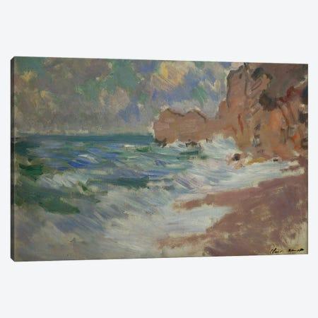 Receding Waves  Canvas Print #BMN5136} by Claude Monet Canvas Wall Art