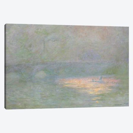 Waterloo Bridge  3-Piece Canvas #BMN5138} by Claude Monet Canvas Print