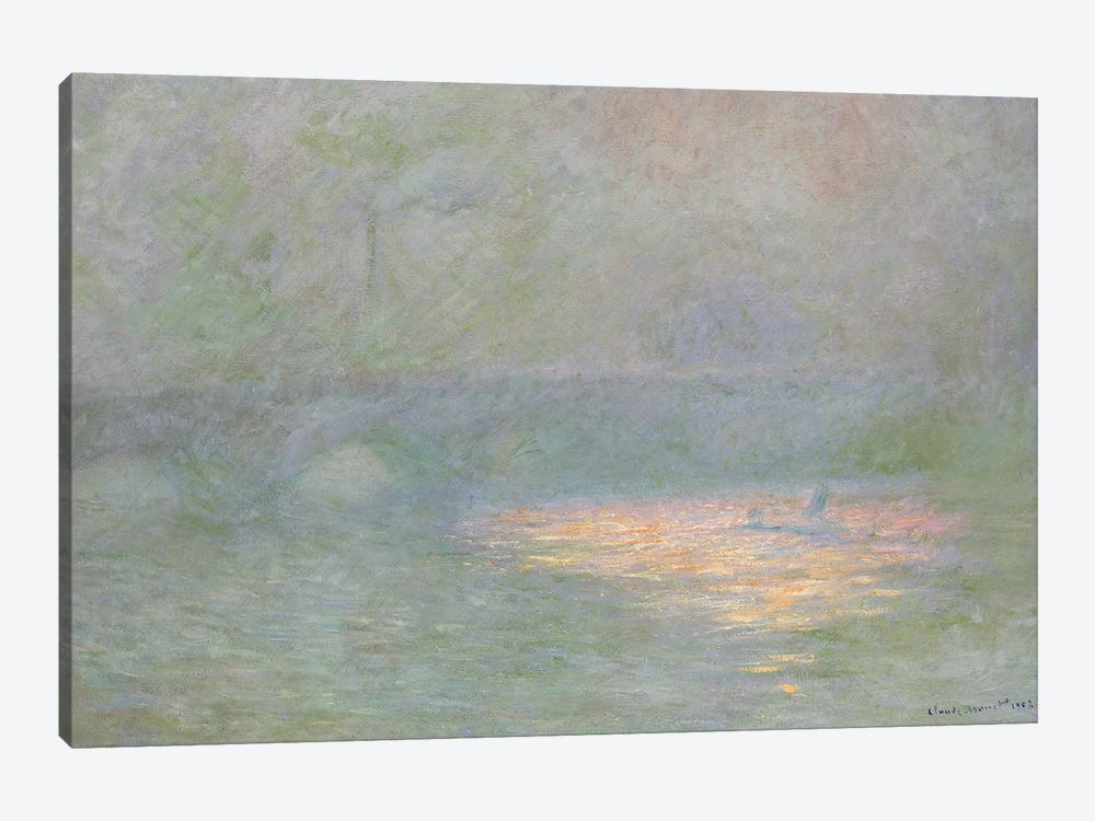 Waterloo Bridge  by Claude Monet 1-piece Canvas Print