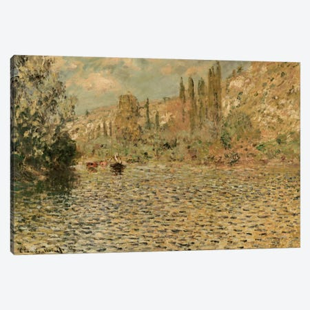 The Seine at Vetheuil  Canvas Print #BMN5140} by Claude Monet Canvas Wall Art