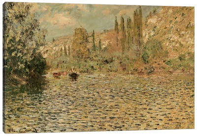 The Seine at Vetheuil  Canvas Print #BMN5140