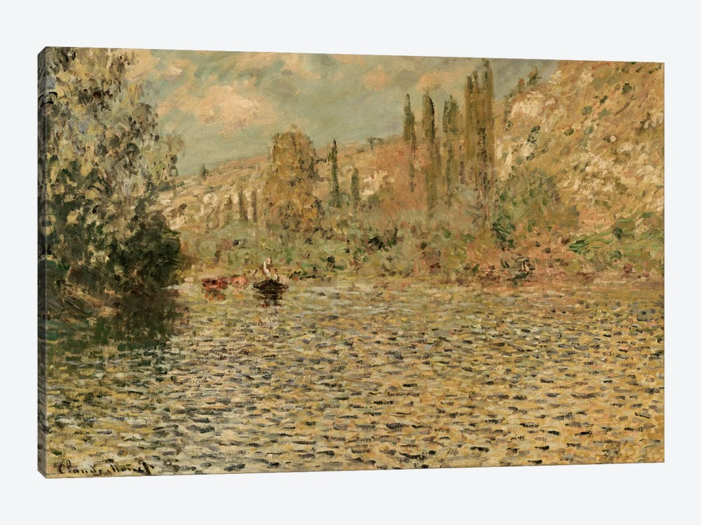 The Seine at Vetheuil by Claude Monet 1-piece Canvas Wall Art