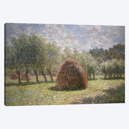 Haystacks at Giverny, 1893  Canvas Print #BMN5142} by Claude Monet Canvas Art