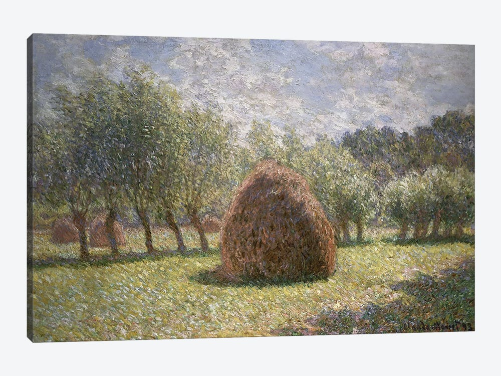 Haystacks at Giverny, 1893  by Claude Monet 1-piece Canvas Artwork