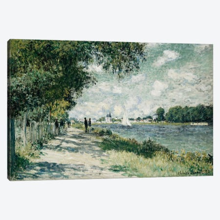 The Seine at Argenteuil, 1875  Canvas Print #BMN5143} by Claude Monet Canvas Art
