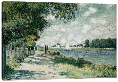 The Seine at Argenteuil, 1875  Canvas Art Print