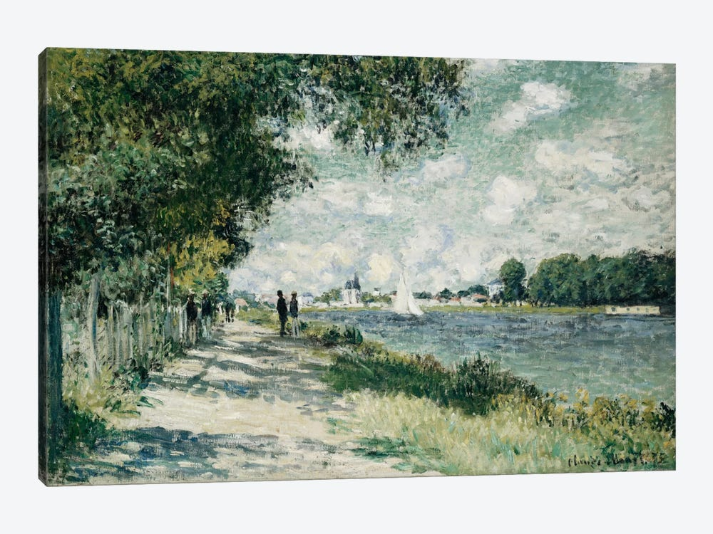 The Seine at Argenteuil, 1875  by Claude Monet 1-piece Canvas Print