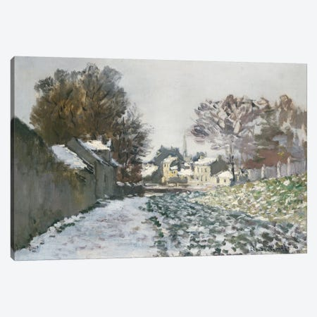 Snow at Argenteuil, c.1874  Canvas Print #BMN5144} by Claude Monet Canvas Art Print