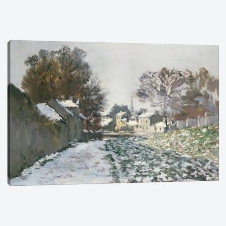 Snow at Argenteuil, c.1874  Canvas Print #BMN5144} by Claude Monet Canvas Art Print