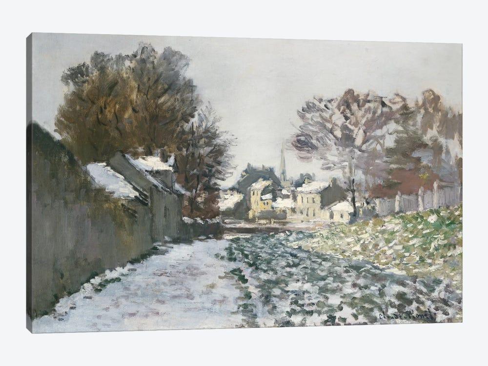Snow at Argenteuil, c.1874  by Claude Monet 1-piece Canvas Art