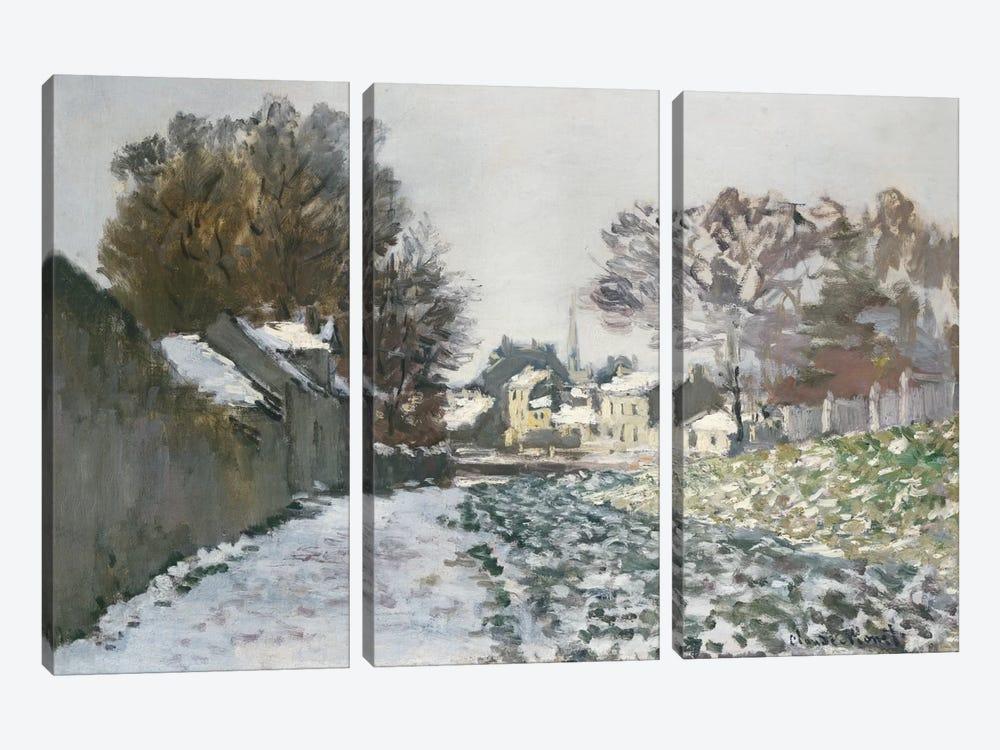 Snow at Argenteuil, c.1874  by Claude Monet 3-piece Canvas Art