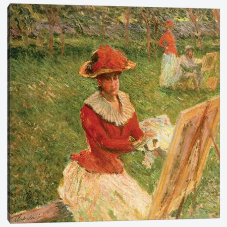 Blanche Hoschede Painting, 1892  Canvas Print #BMN5145} by Claude Monet Canvas Print