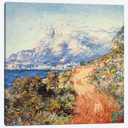 The Red Road near Menton, 1884  Canvas Print #BMN5146} by Claude Monet Art Print