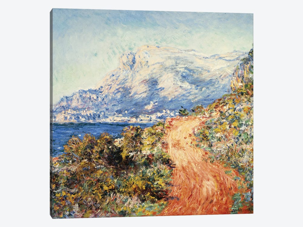 The Red Road near Menton, 1884  by Claude Monet 1-piece Canvas Art