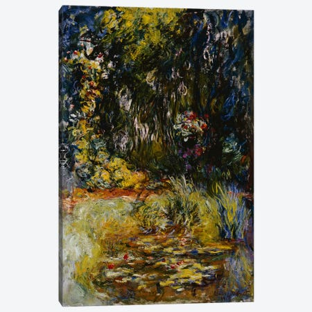 Corner of a Pond with Waterlilies, 1918  Canvas Print #BMN5147} by Claude Monet Art Print