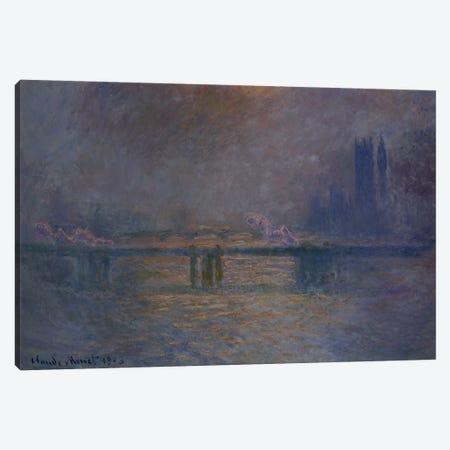 Charing Cross Bridge, The Thames, 1900-03  Canvas Print #BMN5148} by Claude Monet Canvas Artwork