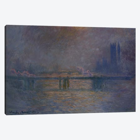 Charing Cross Bridge, The Thames, 1900-03  Canvas Print #BMN5148} by Claude Monet Canvas Artwork