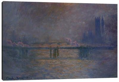 Charing Cross Bridge, The Thames, 1900-03  Canvas Print #BMN5148