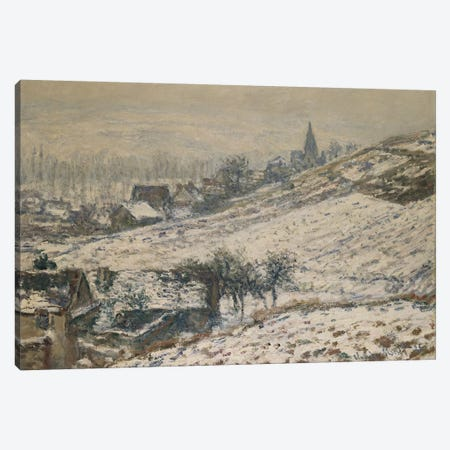 Winter in Giverny, 1885  Canvas Print #BMN5149} by Claude Monet Canvas Artwork