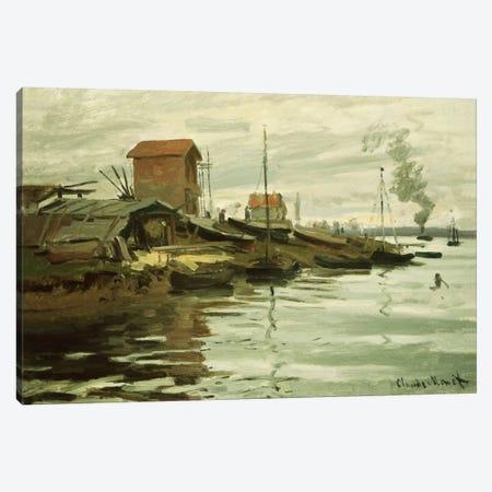 The Seine at Petit-Gennevilliers, 1872  Canvas Print #BMN5150} by Claude Monet Art Print