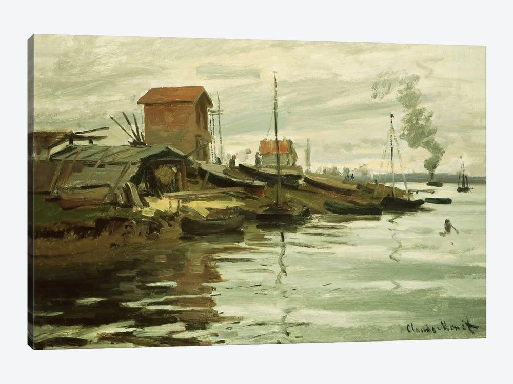 The Seine at Petit-Gennevilliers, 1872  by Claude Monet 1-piece Art Print