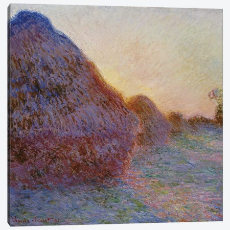 Haystacks  Canvas Print #BMN5151} by Claude Monet Canvas Print