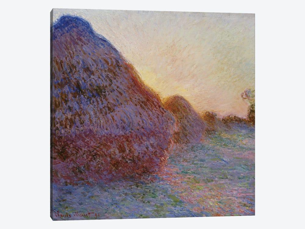 Haystacks (Meules), 1891 by Claude Monet 1-piece Canvas Art