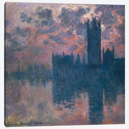 Houses of Parliament, Sunset, 1902  Canvas Print #BMN5152} by Claude Monet Canvas Art Print