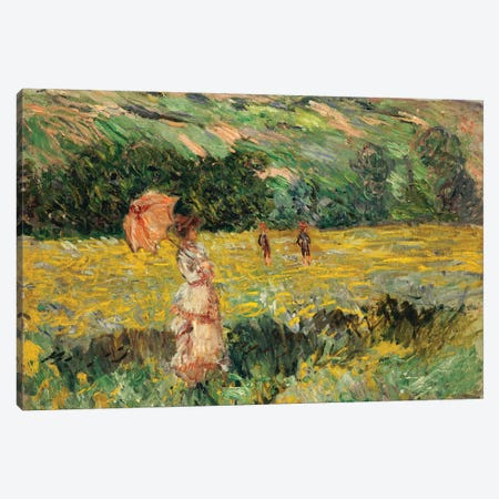 Limetz Meadow, 1887  Canvas Print #BMN5154} by Claude Monet Canvas Artwork
