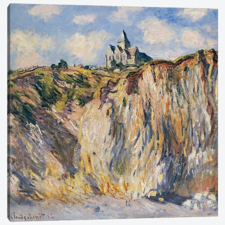 Church at Varengeville, Morning, 1882  3-Piece Canvas #BMN5156} by Claude Monet Canvas Artwork