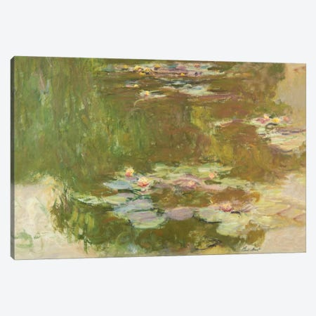 Lily Pond, 1881  Canvas Print #BMN5157} by Claude Monet Canvas Wall Art