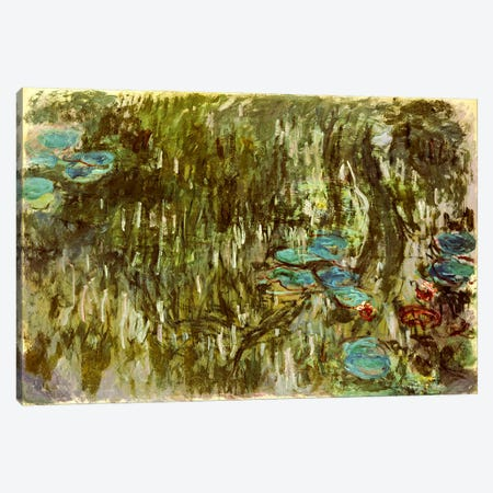 Water Lilies, Reflected Willow, c.1920  Canvas Print #BMN5158} by Claude Monet Art Print