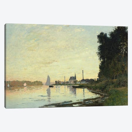 Argenteuil, Late Afternoon, 1872  Canvas Print #BMN5159} by Claude Monet Canvas Art Print