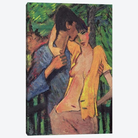 Lovers  Canvas Print #BMN515} by Otto Muller Art Print