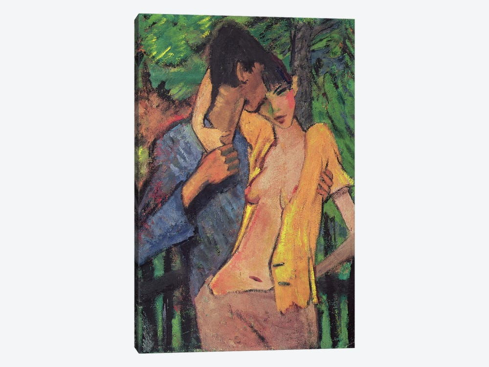 Lovers  by Otto Muller 1-piece Canvas Print