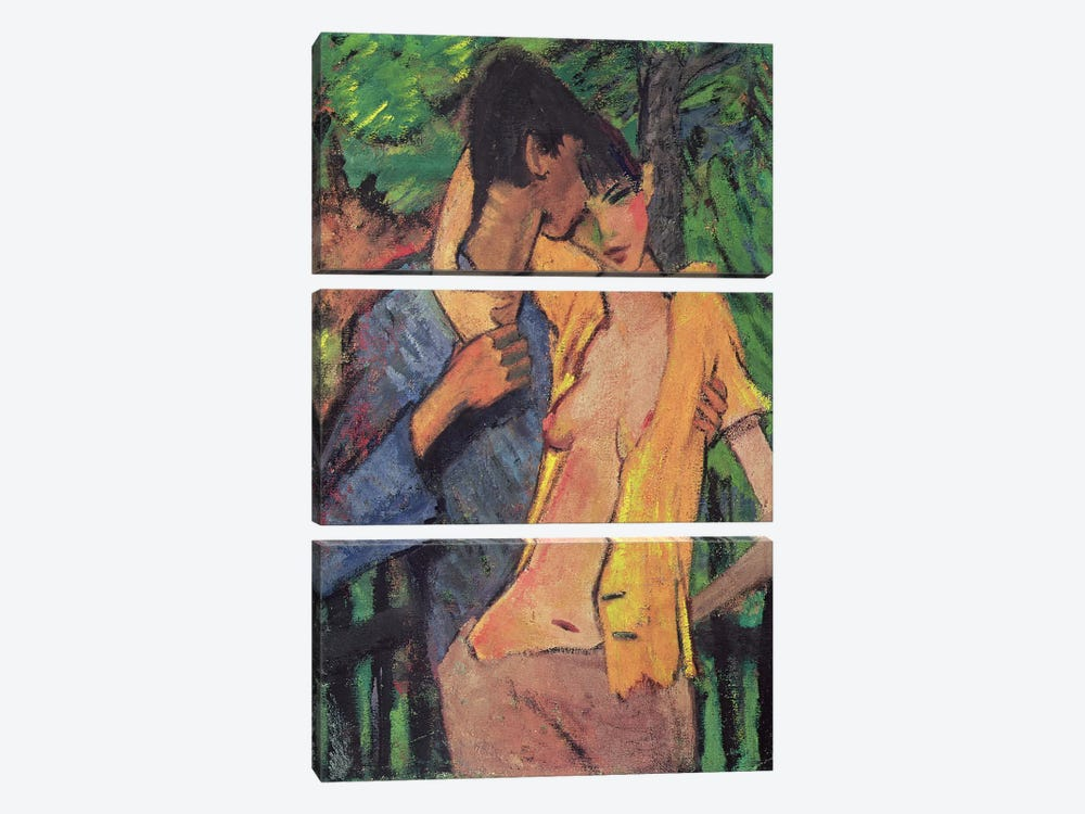 Lovers  by Otto Muller 3-piece Art Print