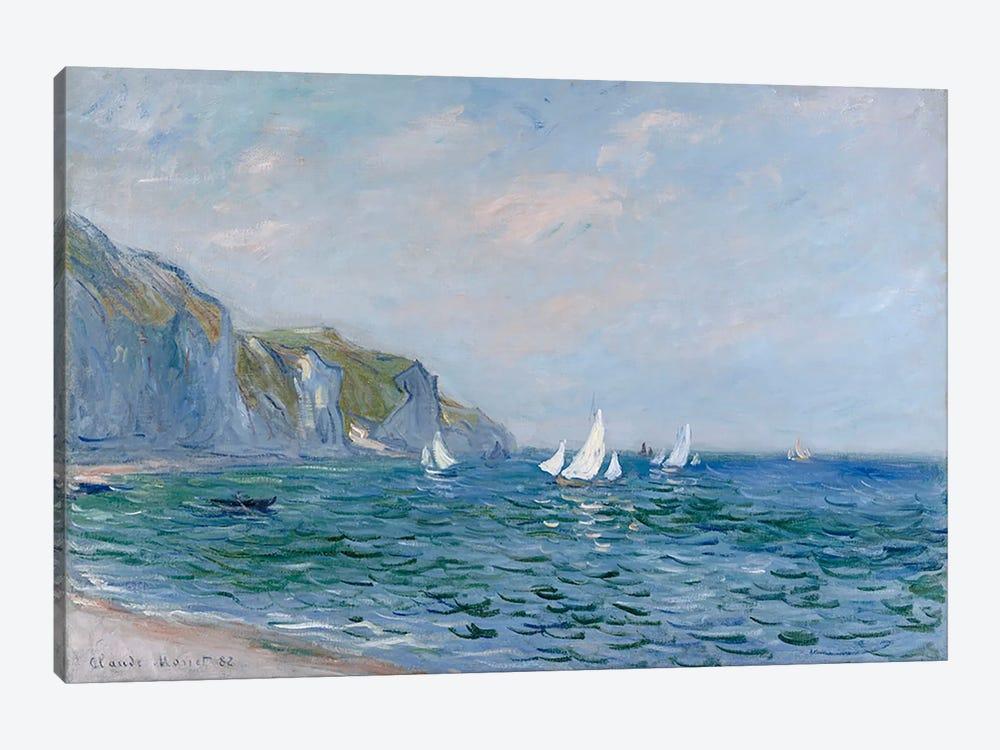 Cliffs and Sailboats at Pourville  by Claude Monet 1-piece Canvas Artwork
